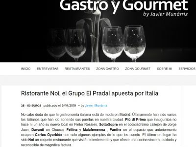 NOI en Gastro & Gourmet (19.09.2019)